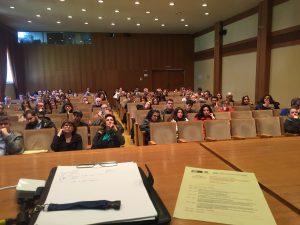 Άποψη των συμμετεχόντων στο σεμινάριο των χρηματοδοτήσεων στο Αμφιθέατρο του ΙΜΔΟ στις 14-3-2019.
